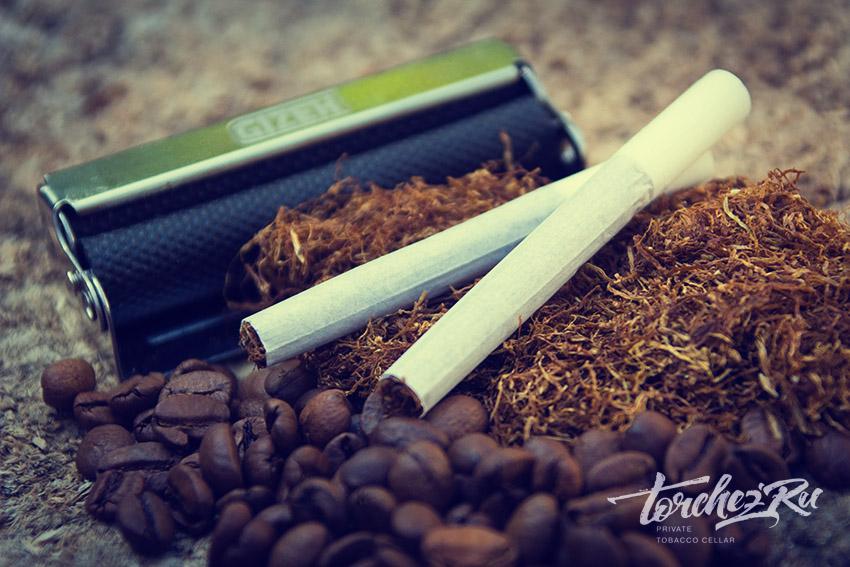 Самокрутки, кофе и табак // Фотопробы