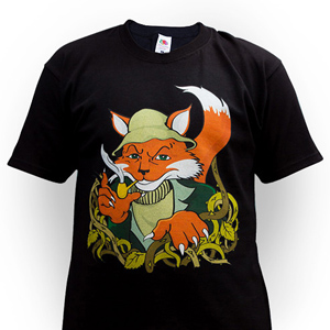 Футболка Briar Fox Black T-Shirt Черная